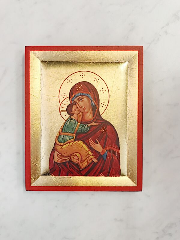 Gold Leaf Mother and Child Icon